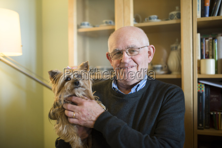 portrait of senior man with his