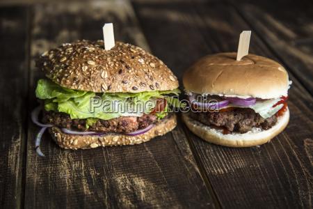 vegetarian burger with beetroot patty avocado