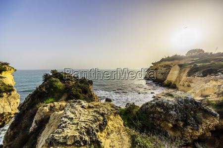 portugal algarve coast near porches at