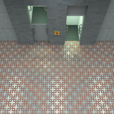 3d rendering paternoster different directions