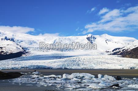 iceland vatnajokull national park view across