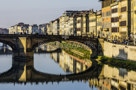 italy tuscany florence arno river and