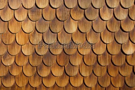 wood shingles close up
