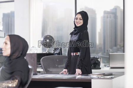 young middle eastern businesswoman in office