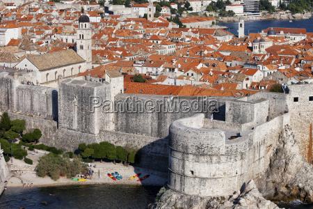 croatia dalmatia dubrovnik old town medieval