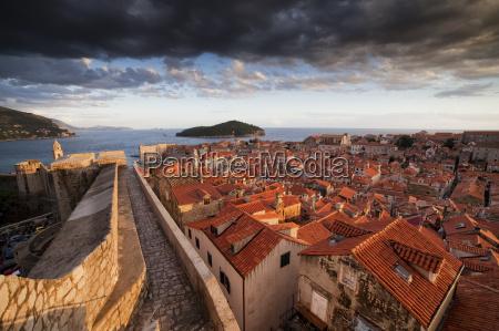 croatia dalmatia dubrovnik old town view