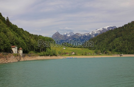spring scene at lake kloental