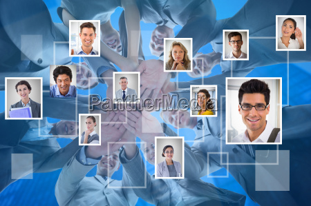 composite image of smiling business team