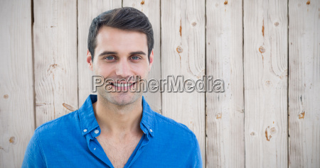 composite image of handsome man smiling