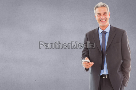 composite image of happy business man