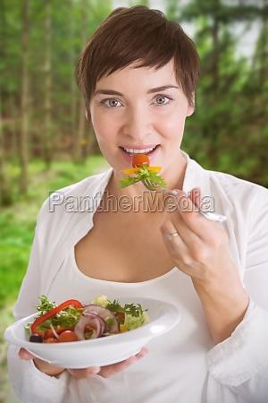 composite image of portrait of beautiful