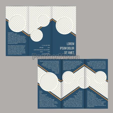 blue tri fold flyer brochure template