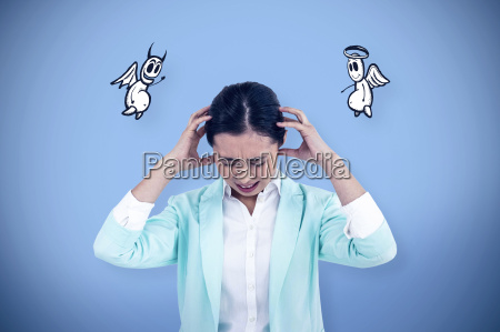 composite, image, of, worried, businesswoman, holding - 17430398