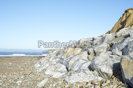 boulders at ballybunion beach