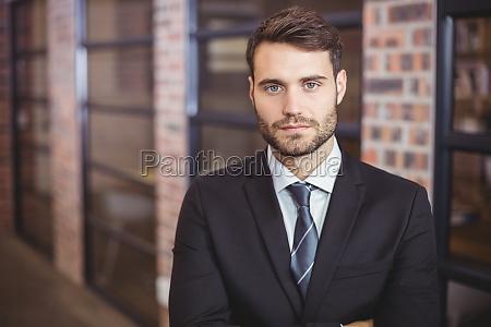 portrait of confident businessman standing in