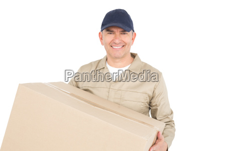 delivery man carrying a package