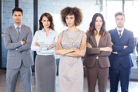 portrait of confident business team in