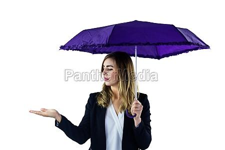woman using an umbrella