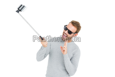 young man taking a selfie with
