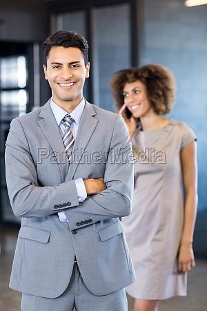 good looking businessman posing