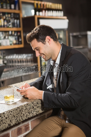 handsome, man, having, a, whiskey, and - 17510728