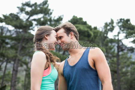 low angle view of young couple