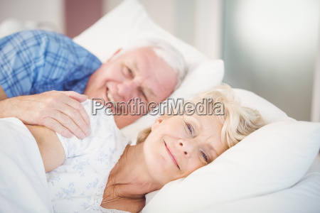 portrait of smiling senior woman relaxing