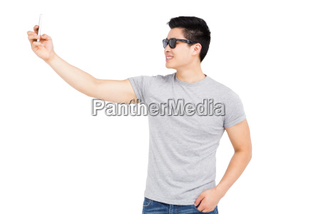 young man taking a selfie on