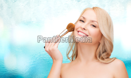 beautiful woman with closed eyes and