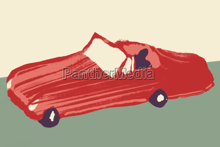 illustrative image of person driving red