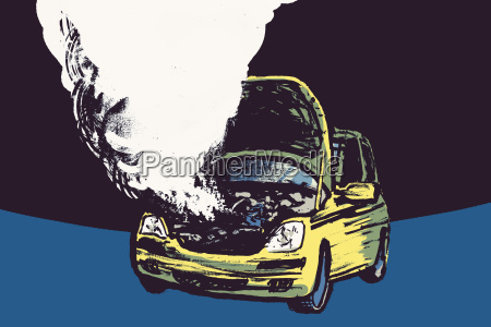 illustration of smoke coming out from