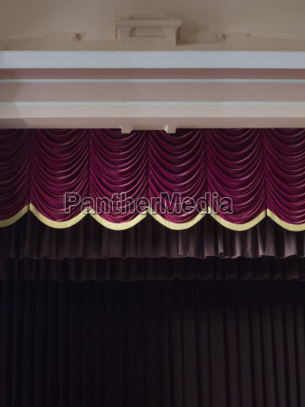 stage curtains in theater