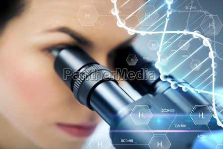 close up of scientist looking to