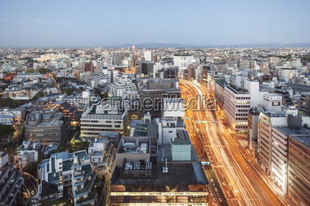 high angle view of cityscape at