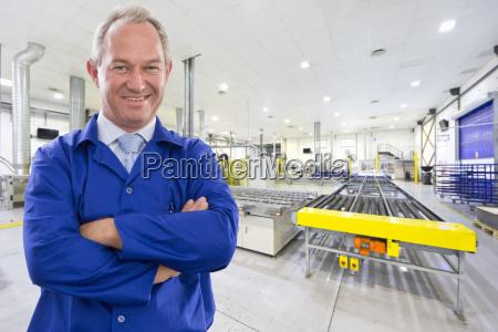 portrait of supervisor worker smiling at