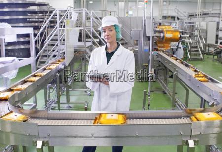 portrait quality control worker with digital