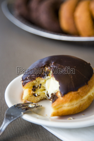 a chocolate covered donut after having