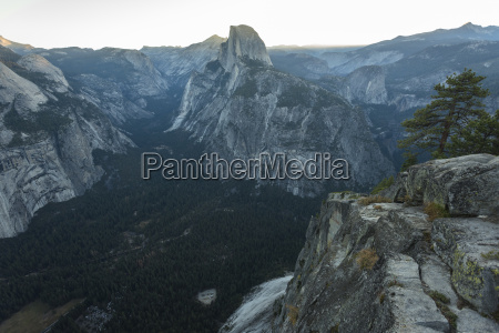 view of half dome from glacier