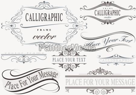 calligraphic frame set
