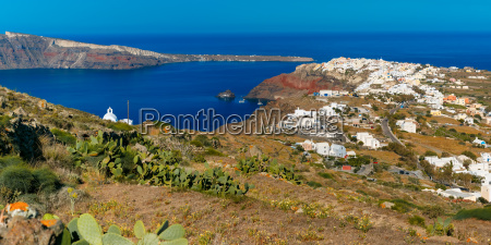 aerial view of oia or