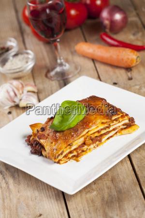 portion lasagne