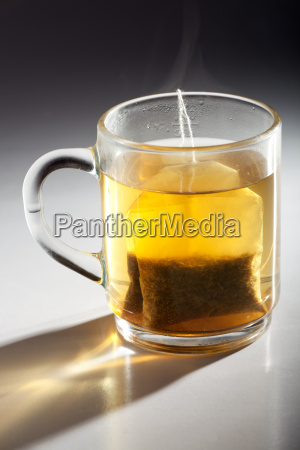 tea bags in a glass cup