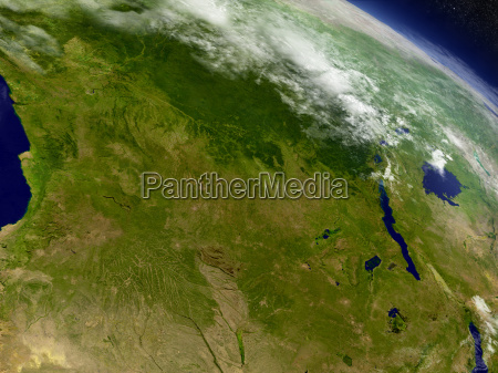 democratic republic of congo from space