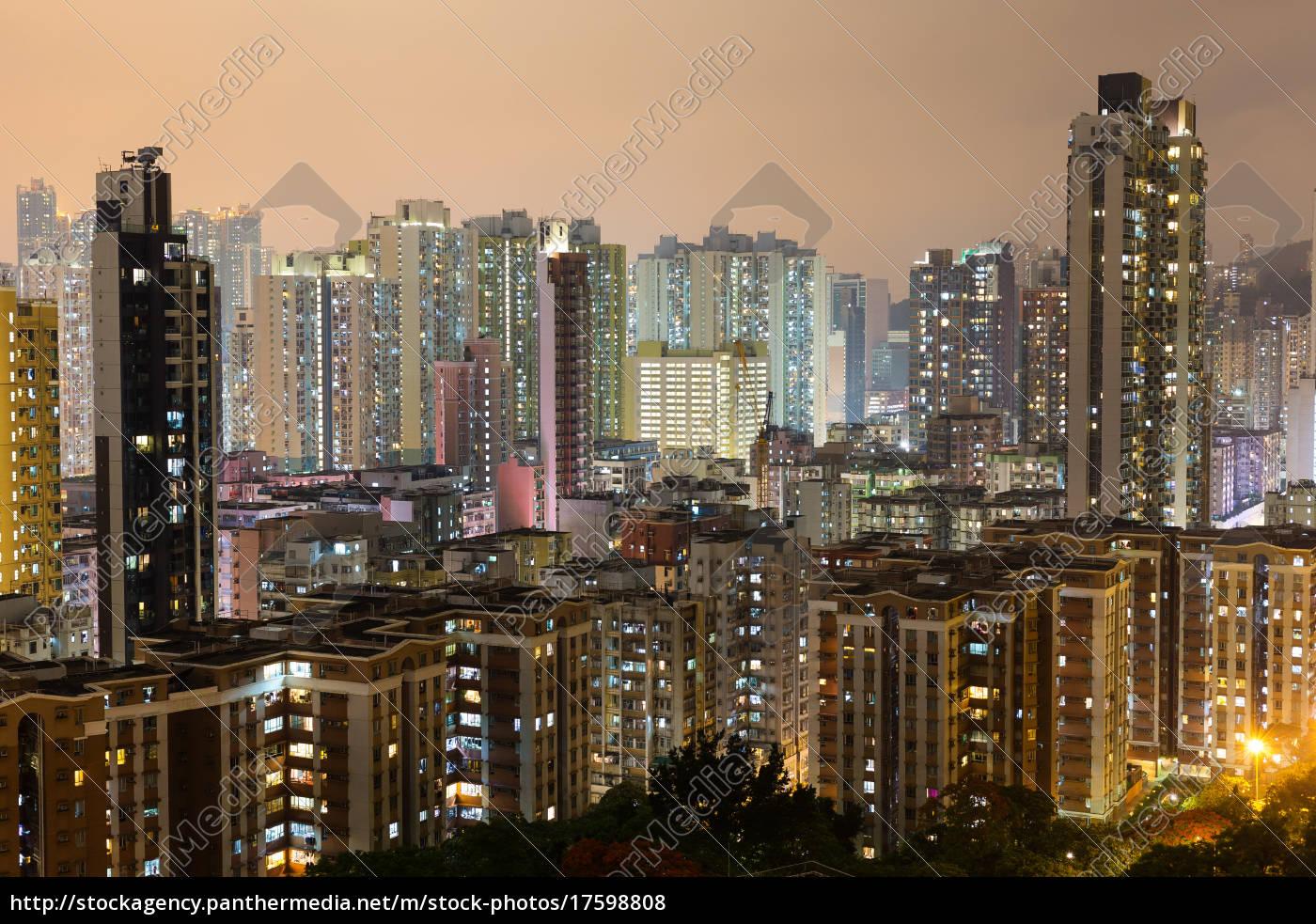 hong, kong, city, at, night - 17598808