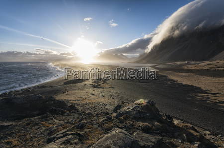 seascape in the stokknes area iceland