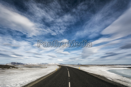 remote highway in iceland