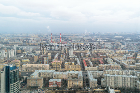 panorama of the city of moscow