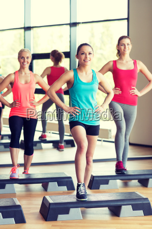group of women working out with