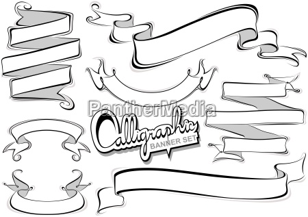 calligraphic banner collection