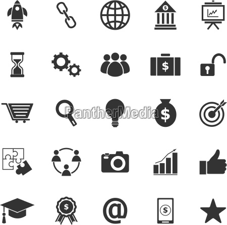 start up icons on white background